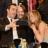 Jennifer, Justin Theroux and Will Forte all snapped a funny selfie at the Critics' Choice Awards in January 2016.