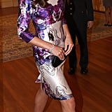 Kate Middleton carried a clutch.