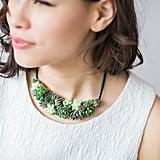 Succulent Statement Necklace ($98)