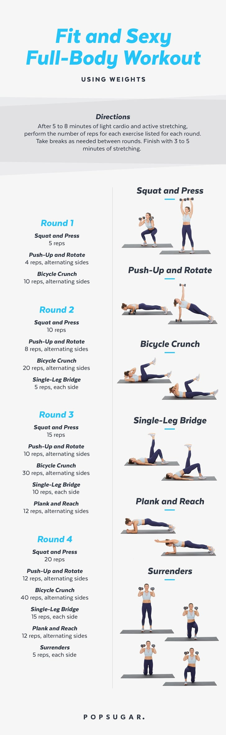 image relating to Printable Workouts called Printable Exercise routines POPSUGAR Exercise
