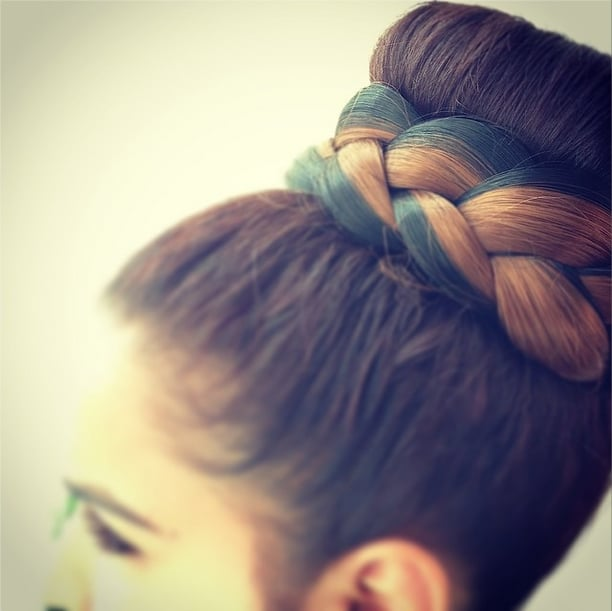 Braided, Ombré Bun