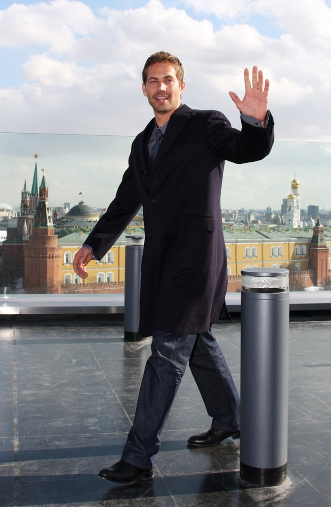 Paul waved to cameras while arriving for a Fast & Furious photocall in Moscow in March 2009.