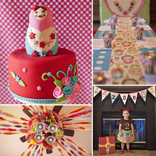 Zoe's Matryoshka Doll-Themed Second Birthday Party