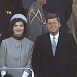 Her Look Was Instantly Compared to the Baby Blue Coat Jackie Kennedy Wore at President Kennedy's Inauguration in 1961