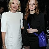 Naomi Watts posed with Jessica Chastain inside at Louis Vuitton.