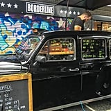 Fuel up on caffeine with a cup of joe from an authentic London taxi.