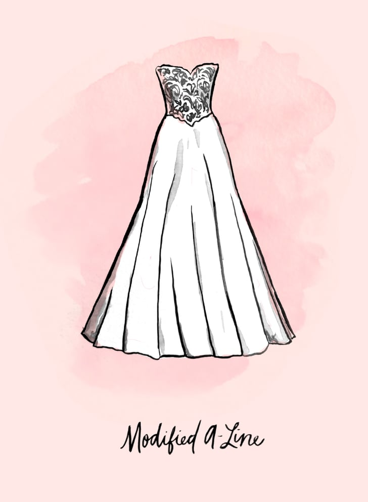 Modified A Line Wedding Dress Shapes And Silhouettes