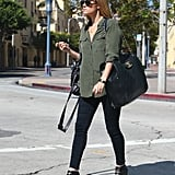Lauren Conrad ran errands in LA.