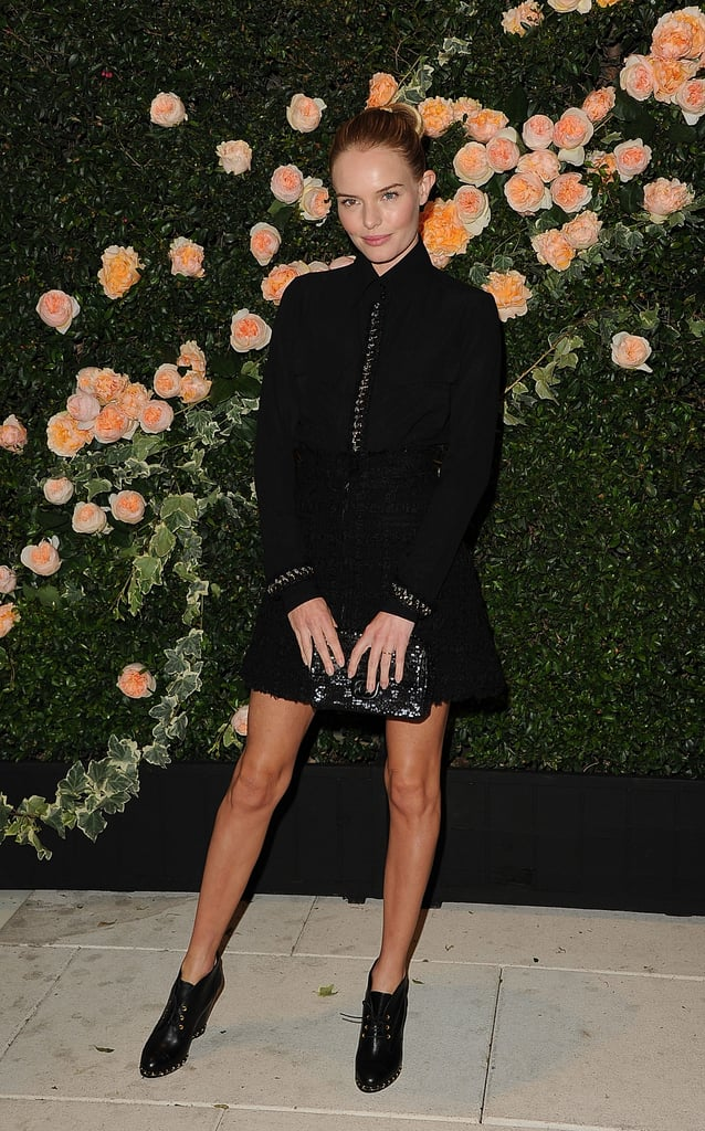 Kate Bosworth struck a pose at the Chanel party.