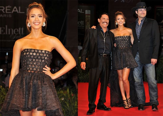 Pictures of Jessica Alba at the Venice Film Festival Premiere of Machete