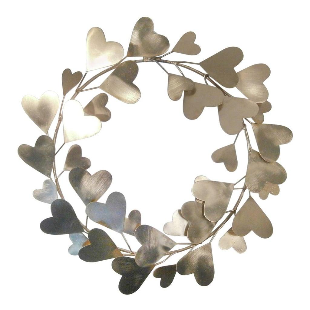 Gold Heart Wreath