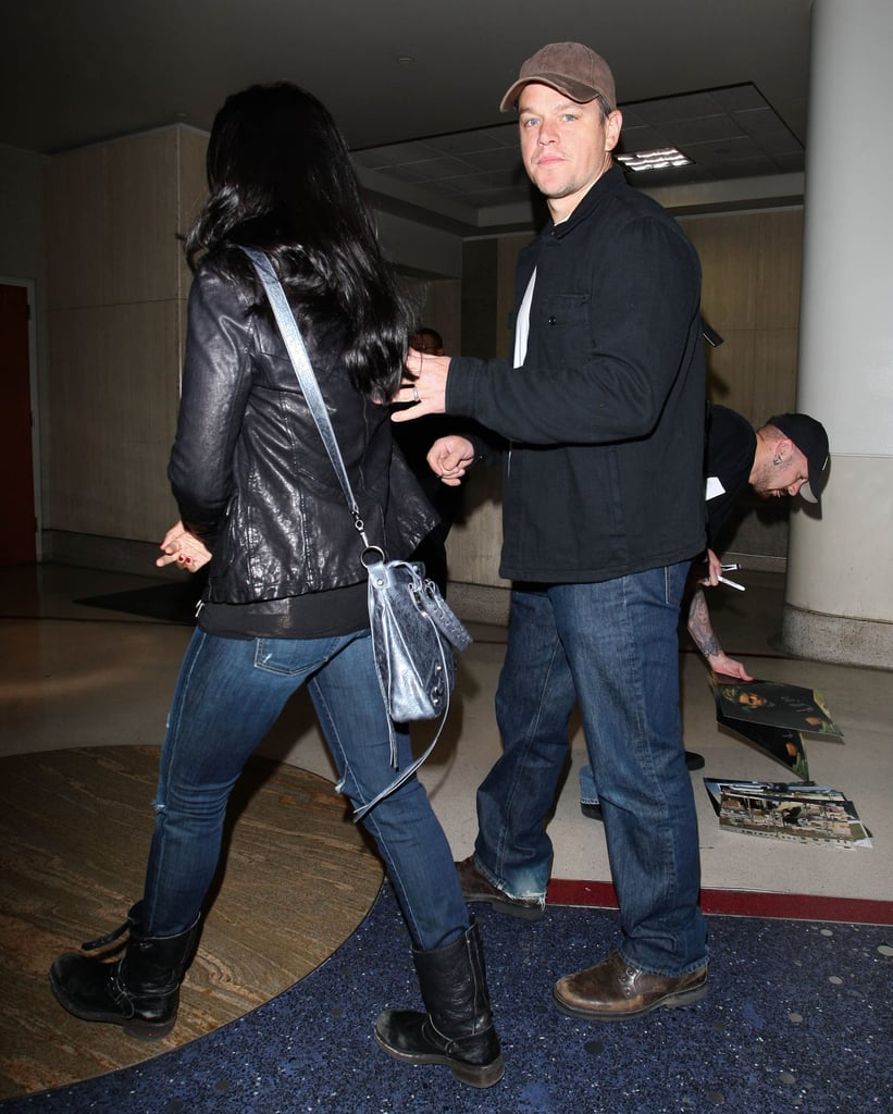 Matt Damon and Luciana Damon are on a trip to LA.