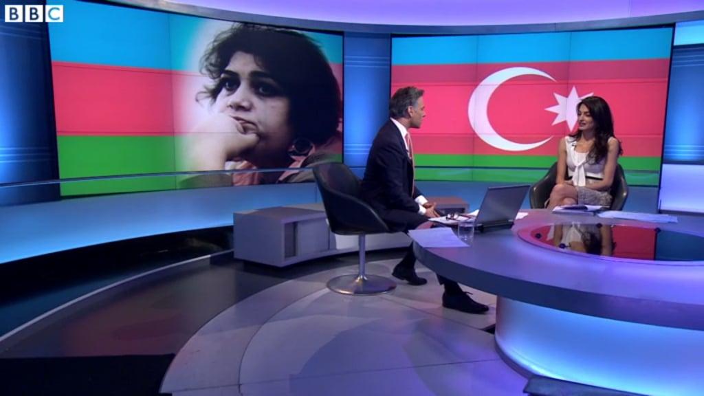 Amal Clooney Oscar de la Renta Dress on BBC April 2016