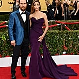 Matthew stood out in bright blue Brioni jacket at the SAG Awards, while Camila showed off her curves in an eggplant Donna Karan Atelier gown. We were also pretty fond of her train, which draped over the side of the dress and gave the whole look an Old Hollywood feel.