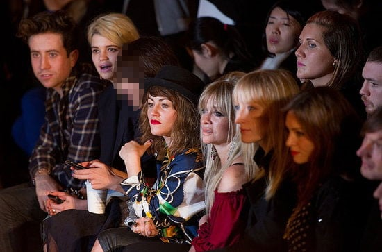 Celebrity Front Row Photo of House of Holland Show at London Fashion Week