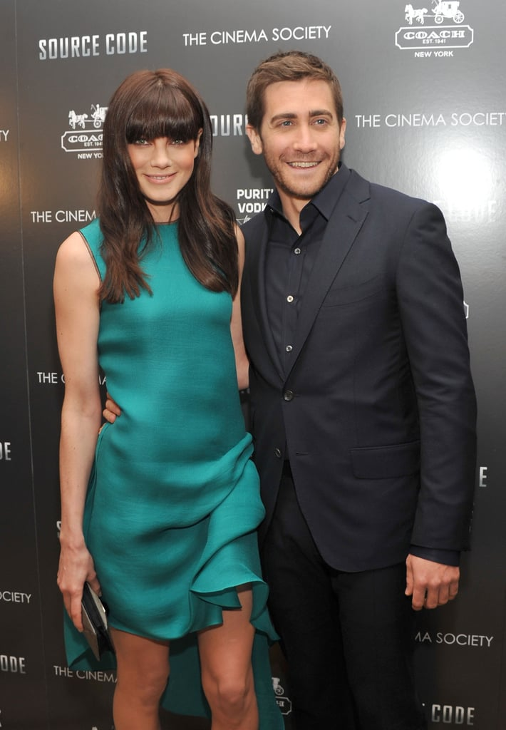 Jake and Michelle Show Off Their Chemistry and Lindsay Tags Along For Source Code Red Carpet