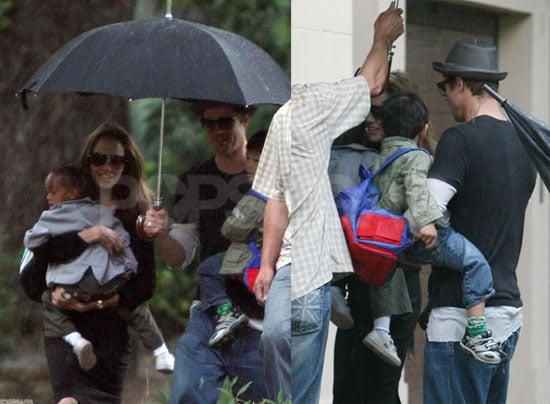Rainy Day Equals Cute Jolie-Pitt Family Times