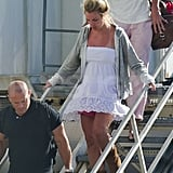 Britney Spears and Jason Trawick travel together.