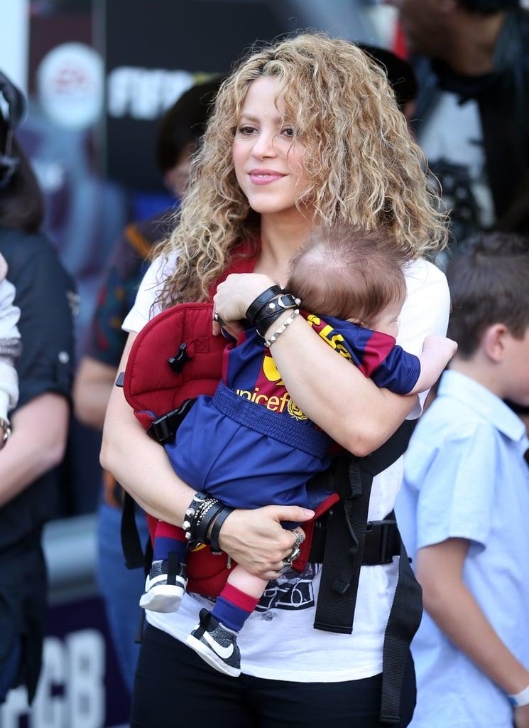 Shakira and Kids at Gerard Pique's Soccer Game April 2015