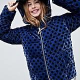 ASOS Design Spot Velvet Padded Jacket