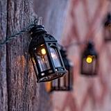 Lights 4 Fun Black Moroccan Lantern Solar Lights