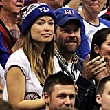 Olivia and Jason cheered on the Jayhawks.