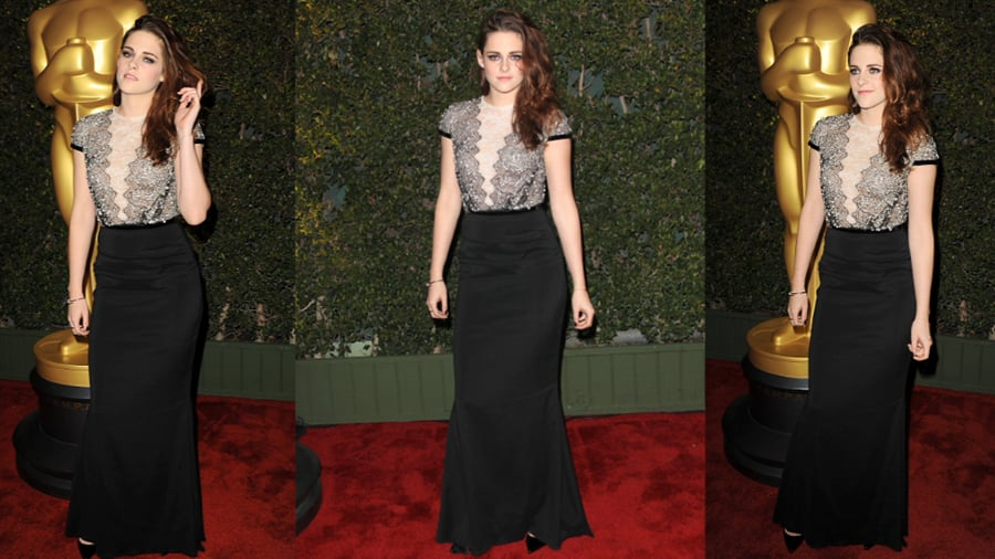 Kristen Stewart Continues Her Sheer Reign on the Red Carpet