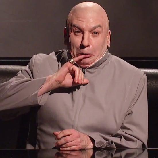 Dr. Evil Talks Sony Hacking on Saturday Night Live