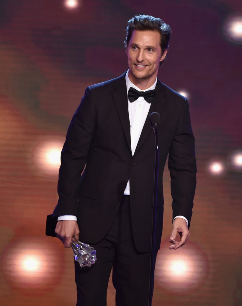 Matthew McConaughey was all smiles on stage.