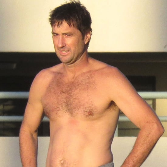 Luke Wilson Shirtless at the Beach in LA Pictures
