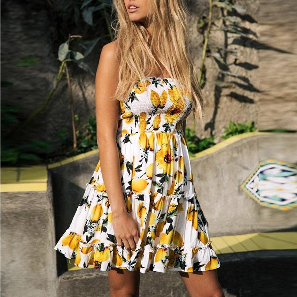Sunward Strapless Dress