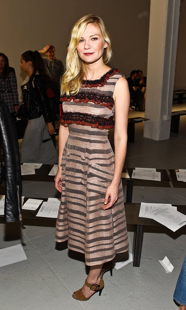 Kirsten Dunst showed off her figure in a long dress.