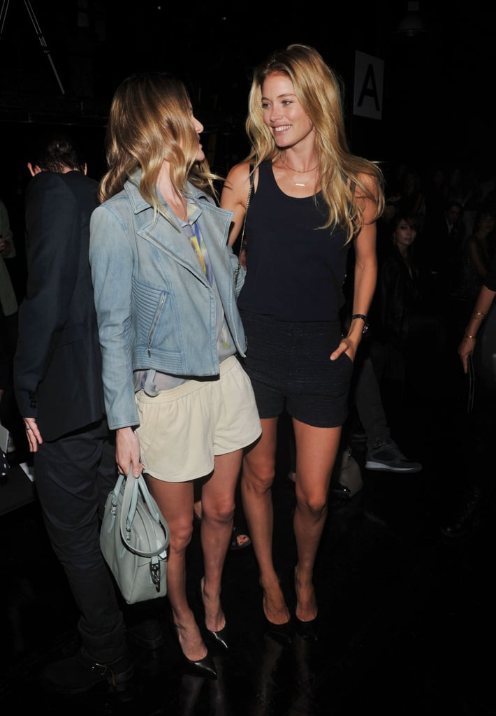 Kate Bosworth and Doutzen Kroes caught up back stage.