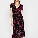 Express Floral V-Neck Midi Dress