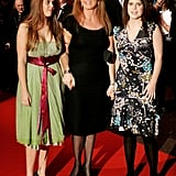 Beatrice, Sarah, and Eugenie hit the red carpet in 2004 for the UK premiere of The Aviator.