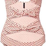 Lisa Marie Fernandez Triple Poppy Knotted Polka-dot Swimsuit