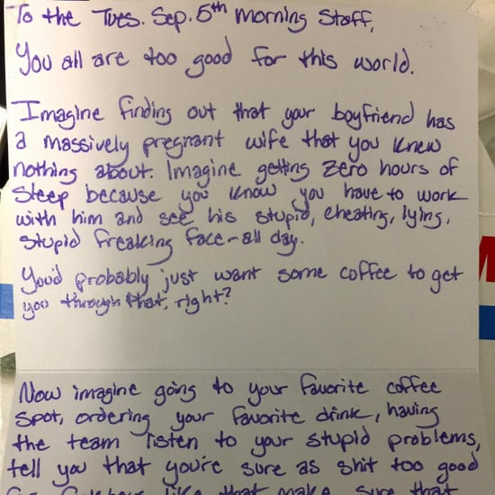 Woman's Note to Coffee Shop About Cheating Boyfriend