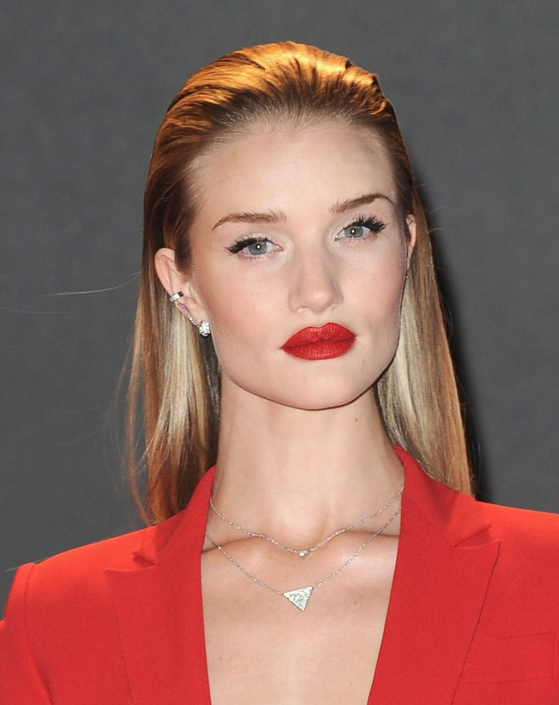 Rosie Huntington-Whiteley's Anita Ko cuff connected to its stud with a delicate chain.