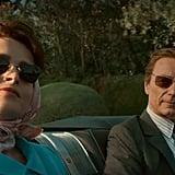 Princess Margaret (Helena Bonham Carter) and Lord Snowdon (Ben Daniels) Take a Drive