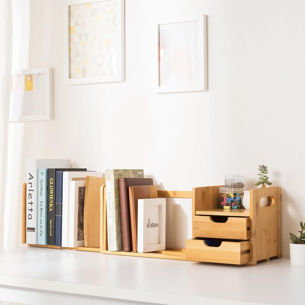 Ollieroo Natural Bamboo Desk Organizer