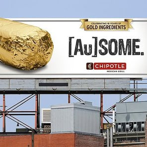 Chipotle Unveils Limited-Time Gold Foil Wrapper