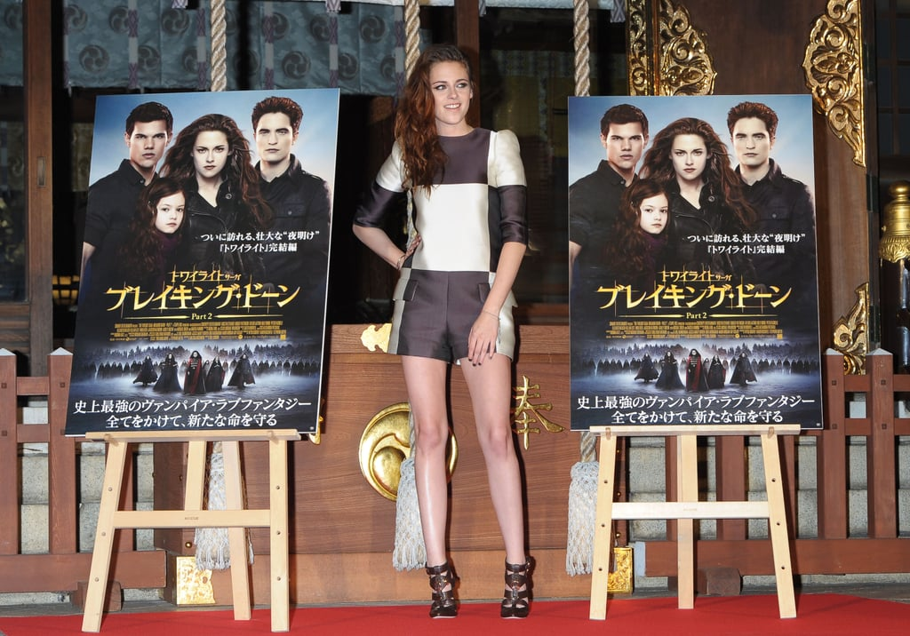 Kristen Stewart stepped out to promote Breaking Dawn — Part 2 in Japan.