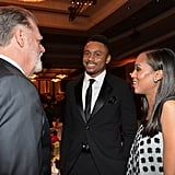 Kerry Washington and Nnamdi Asomugha at the 66th Annual Directors Guild of America Awards in 2014