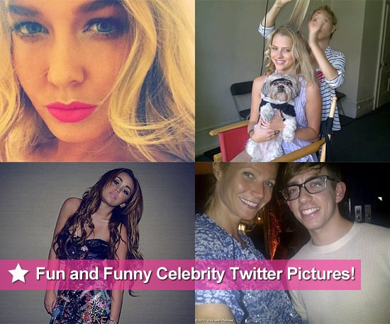 Fun and Funny Celebrity Twitter Pictures of Lara Bingle, Teresa Palmer, Miley Cyrus, Gwyneth Paltrow