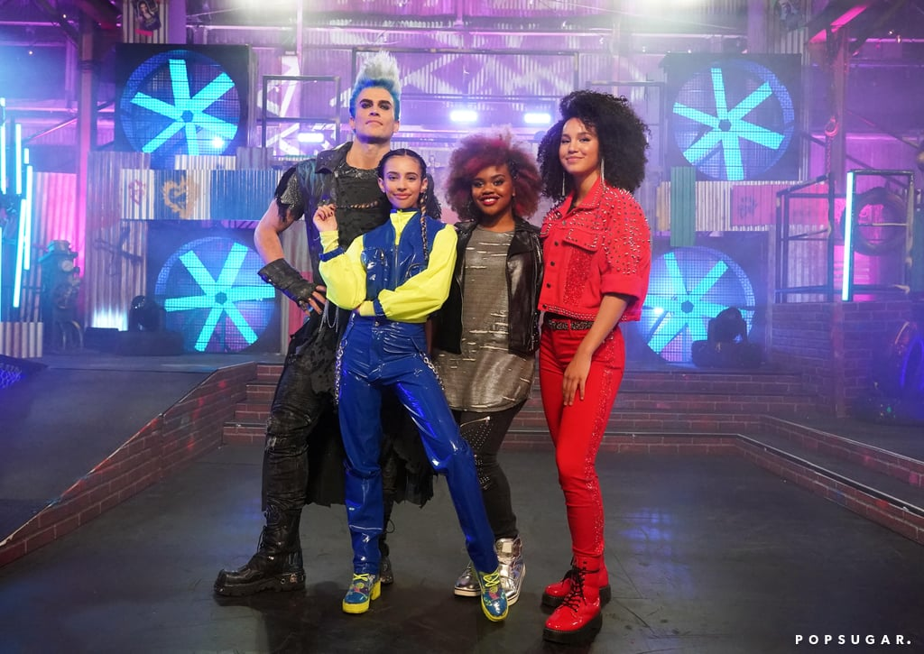 Cheyenne Jackson, Kylie Cantrall, Dara Reneé, and Sofia Wylie at Descendants Remix Dance Party