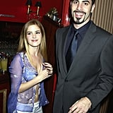 Isla Fisher and Sacha Baron Cohen in 2002