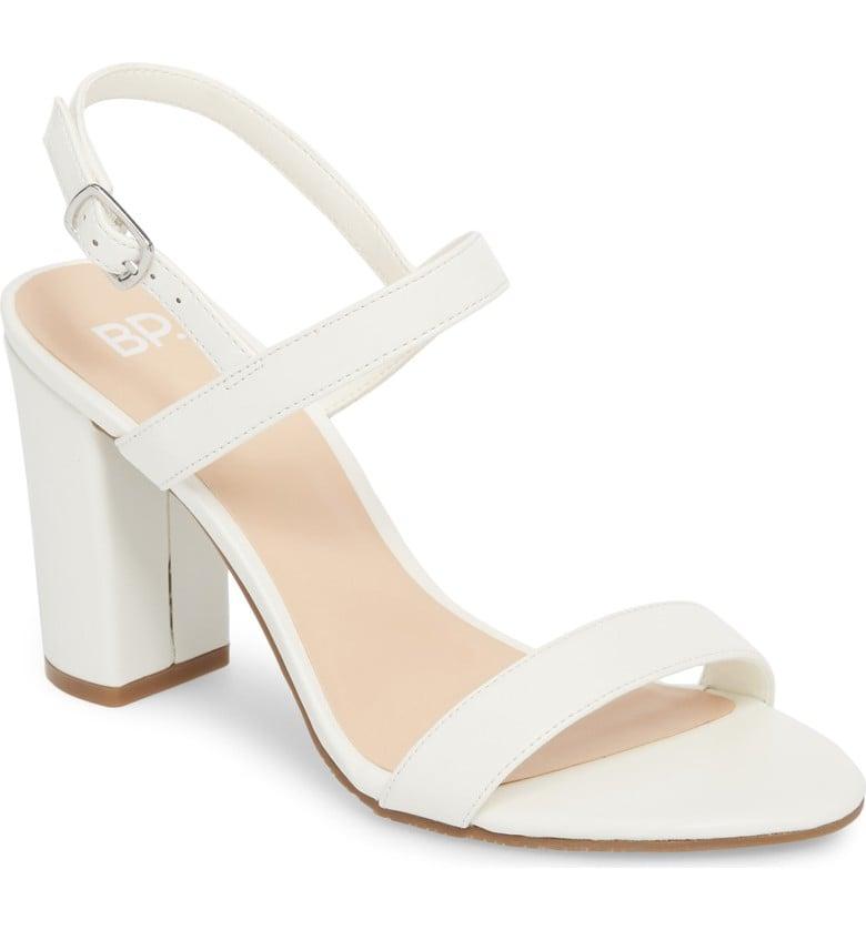 b8ad10e5e09 BP. Lula Block Heel Slingback Sandal