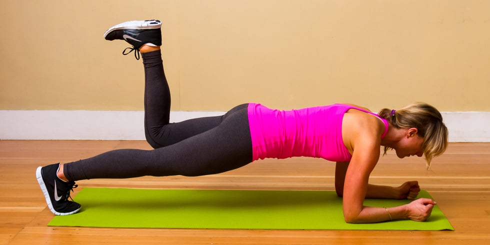How To Do A Proper Plank And Leg Lift, Tone Your Core & Abs