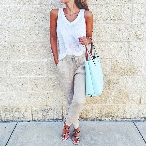 d346b03000 A White Tee, Slouchy Trousers, and Sandals   43 Outfits Everyone ...