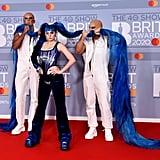 Ashnikko at the 2020 BRIT Awards in London